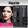 Magical Halo professional mkae up set 12 colors lip liner + 12 colors eye shadow Makeup Set Suits