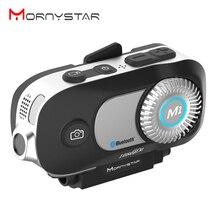 MORNYSTAR intercomunicador M1Pro con Bluetooth para casco de motocicleta, 800m, 4 conductores, MP3, HD, 1080P