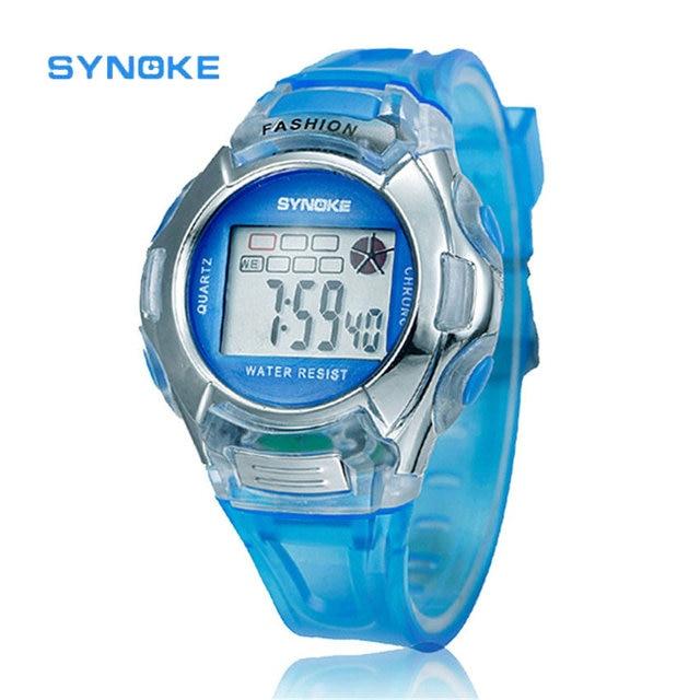 SYNOKE Kids Sports Watch LED Digital Watch Boys or Girls 6 Multi-color Alarm Dat