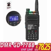 Radioddity GD 77BB New Screen Dual Band Dual Time Slot DMR Ham Two way Radio Digital Radios Inverted Display Walkie Talkie
