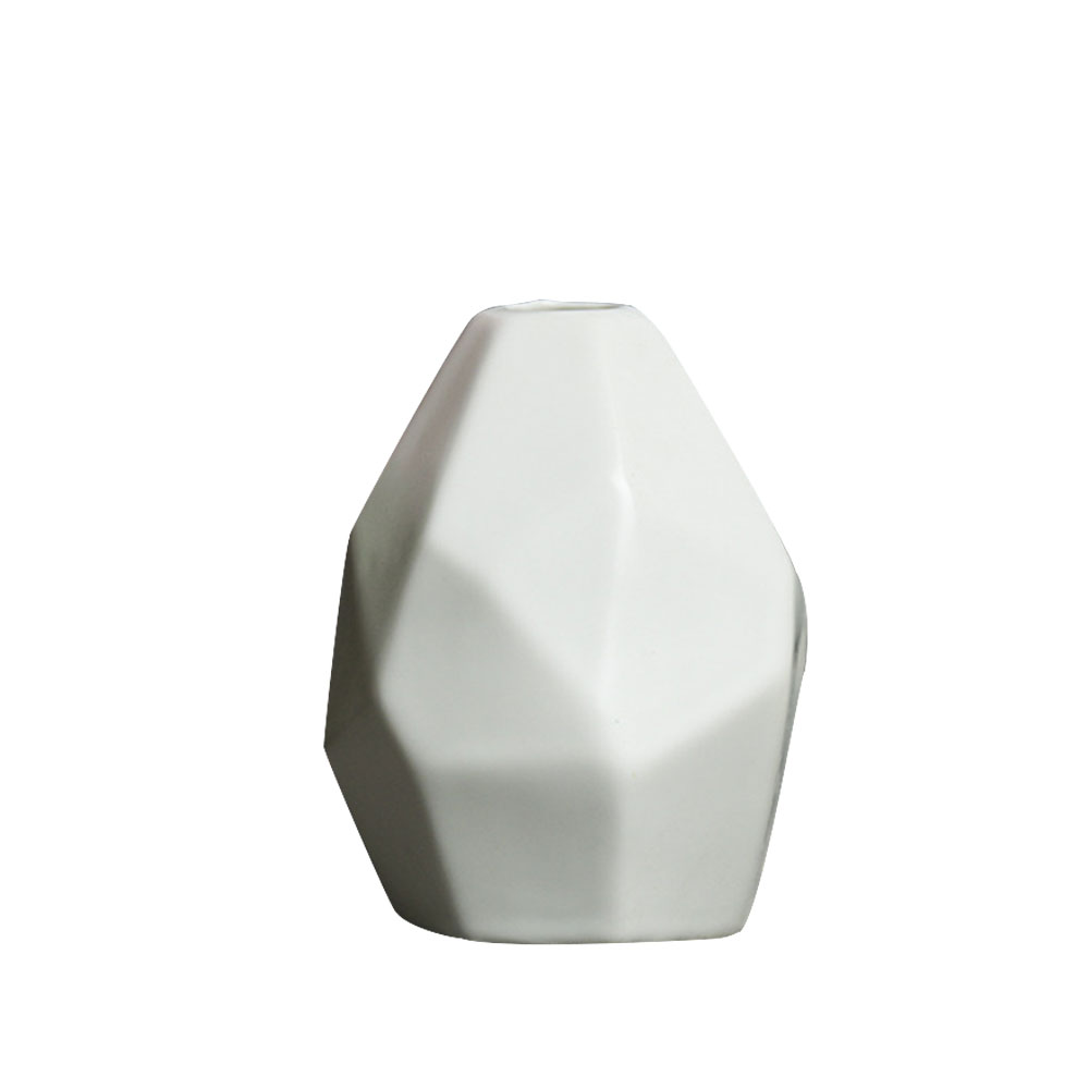 Керамическая ваза, сушеная ваза для цветов, украшение гостиной, сушеный цветочный контейнер, европейская ваза оригами, украшение стола - Цвет: white