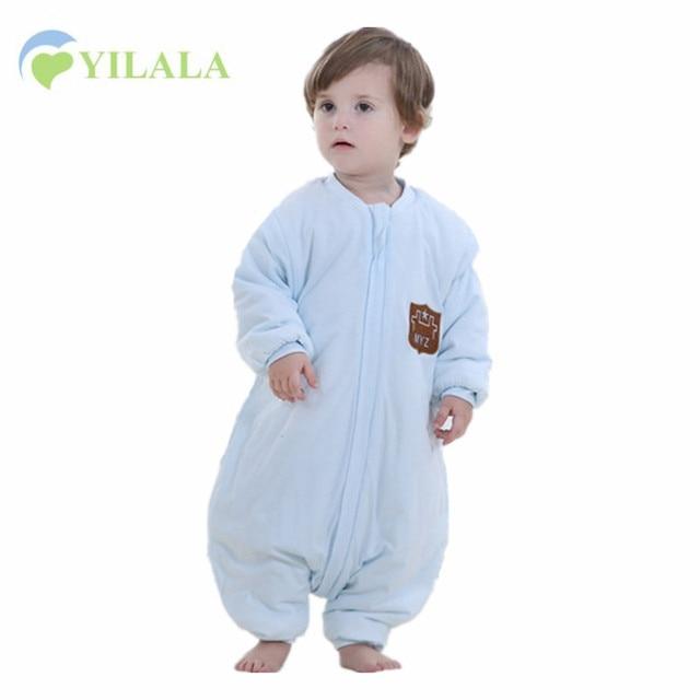 Fashion Baby Boys Girls Sleepsacks Soft Warm Baby Sleeping Bag Removable Sleeve Cotton Sleepsack Sleepwear & Robes