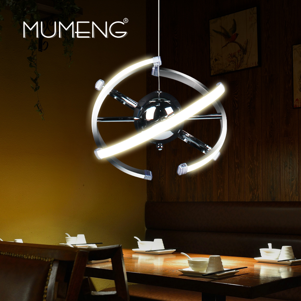 MUMENG LED Pendant Lamp Loft Hanging Light 23W DIY Kitchen Suspension Acrylic Dining room Foyer Lustre