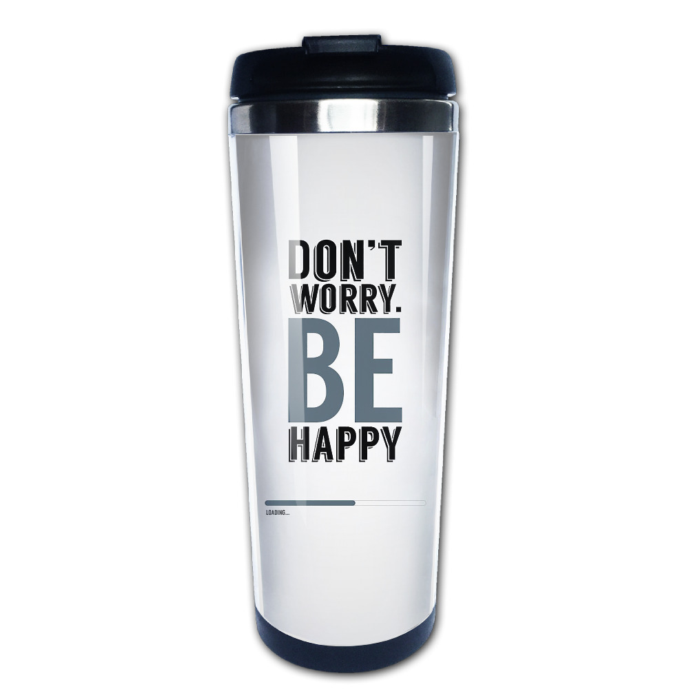 dont worry be happy coffee mug unique grandpa tazas stainless steel tumbler caneca tea Cups
