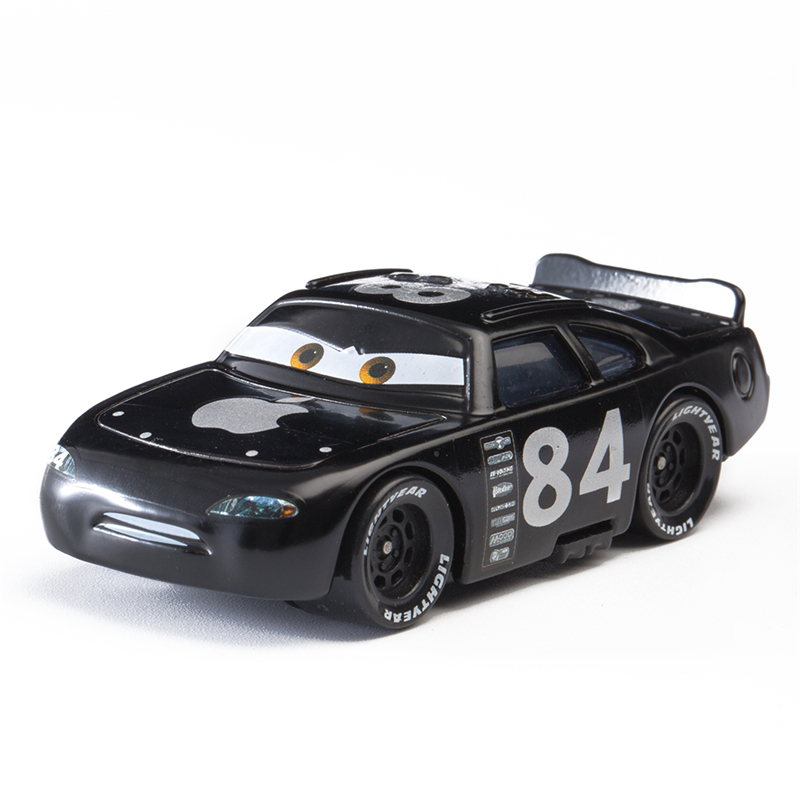 Disney Pixar Cars 2 3 Role Black Apple No.84 Lightning Mcqueen Jackson Storm Mater 1:55 Diecast Metal Alloy Model Car Toy Gift
