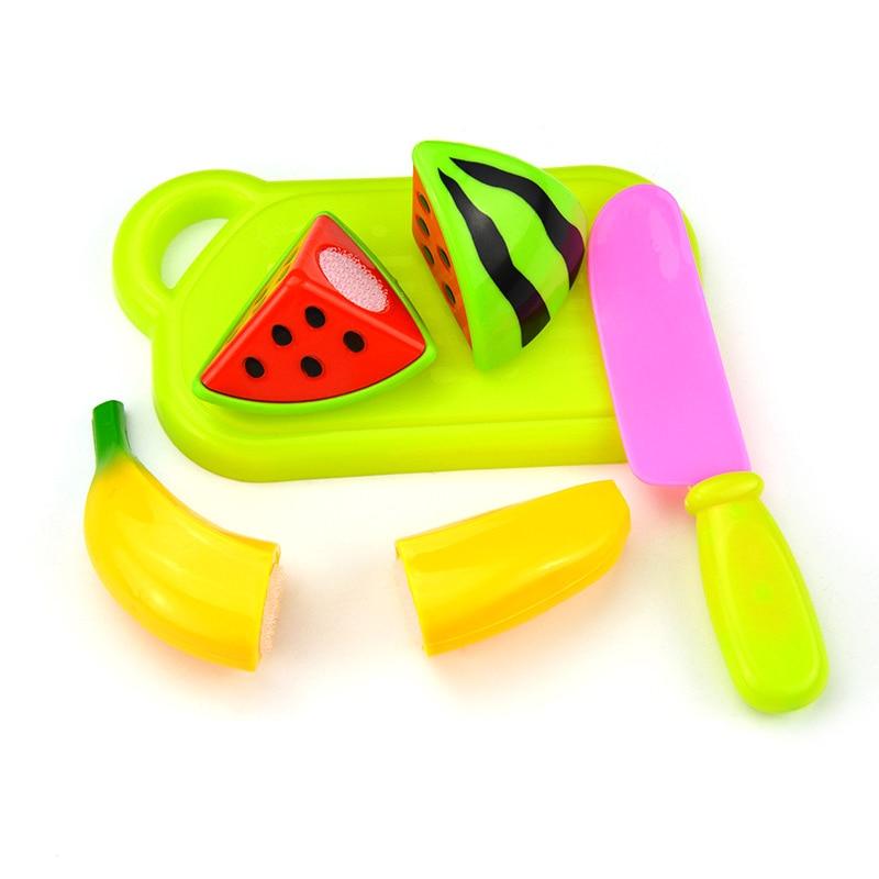 4Pcs Plastic Fruit Vegetables Cutting Toys Set Children Kids Early Development Educational Toy @ZJF