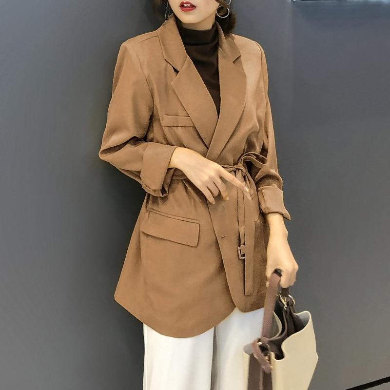 Office Lady Business Women Blazers Spring Autumn Women's Blazer Female Long Suit Jacket  Casual Loose Suit Oversize Outwear