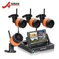 """Mais novo plug & play vigilância 4ch sistema anran 7 """"Kit NVR 1 TB HDD Tela LCD Sem Fio P2P 720 P HD IR Ao Ar Livre Câmera IP WI-FI"""