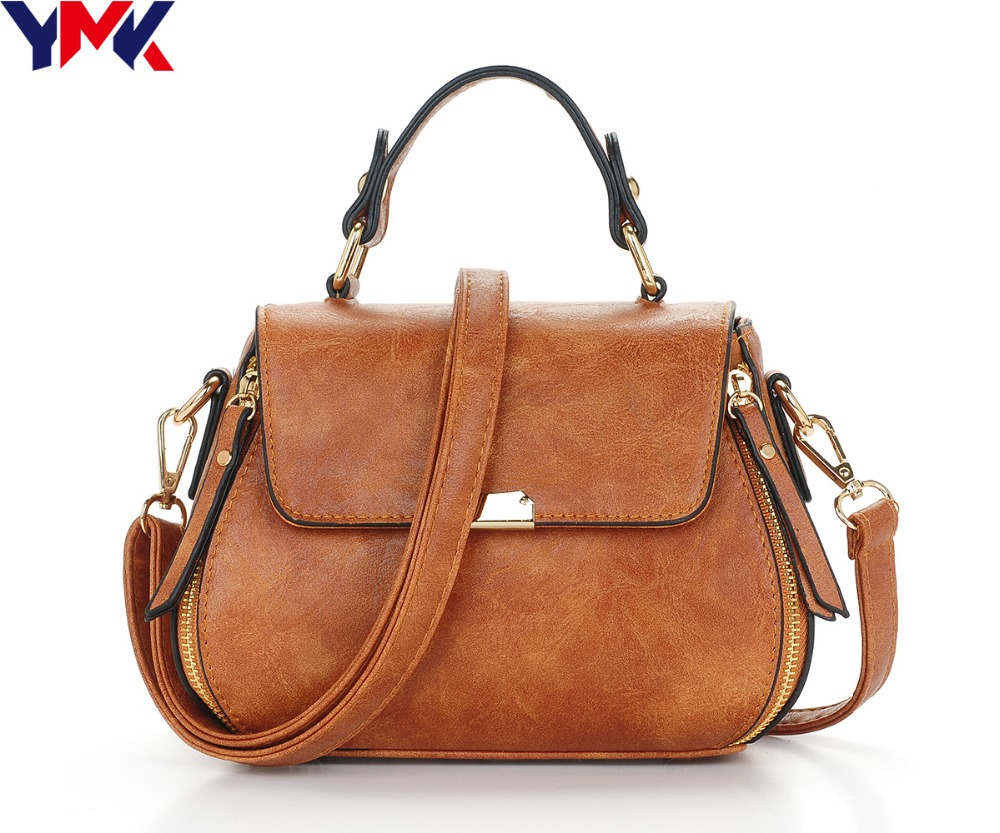 2018 Fashion Zipper Small Bags For Women Leather Shoulder Bag Vintage Ladies hand bags Brand Designer Messenger Bag 2017 fashion all match retro split leather women bag top grade small shoulder bags multilayer mini chain women messenger bags