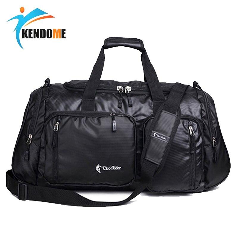 Hot Outdoor Training Gym Bags Portable Shoulder Fitness Bag Large Sports Bag Travel Handbag Men Women Independent Shoes Storage