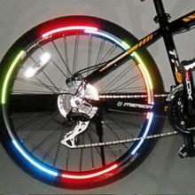Велосипедный отражатель флуоресцентный MTB велосипедный стикер велосипедный обод колеса светоотражающие наклейки Наклейка аксессуары BRS2001