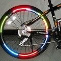 Bicicleta reflector fluorescente bicicleta MTB bicicleta de Ciclismo de llanta de rueda de pegatinas reflectantes calcomanía accesorios BRS2001