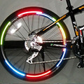 Bicycle reflector Fluorescent MTB Bike Bicycle Sticker Cycling Wheel Rim Reflective Stickers Decal Accessories BRS2001