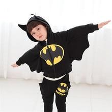 Toddler girls Clothing Set Batman Suit Boys Hooded Jacket+Pants Suit Set Children Sport Suits Spring Kids Tracksuit Boy Clothes