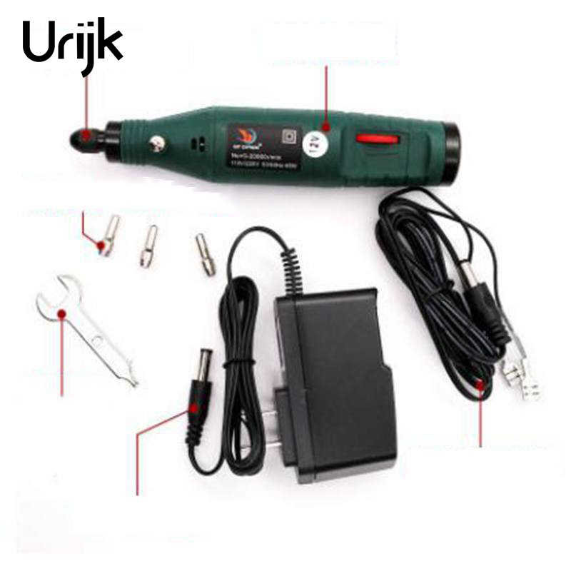 цена на Urijk Wholesale Power Tool Accessories DC Mini 12V Speed Small Electric Grinder Jade Engraving Marking Lettering Pen Charger