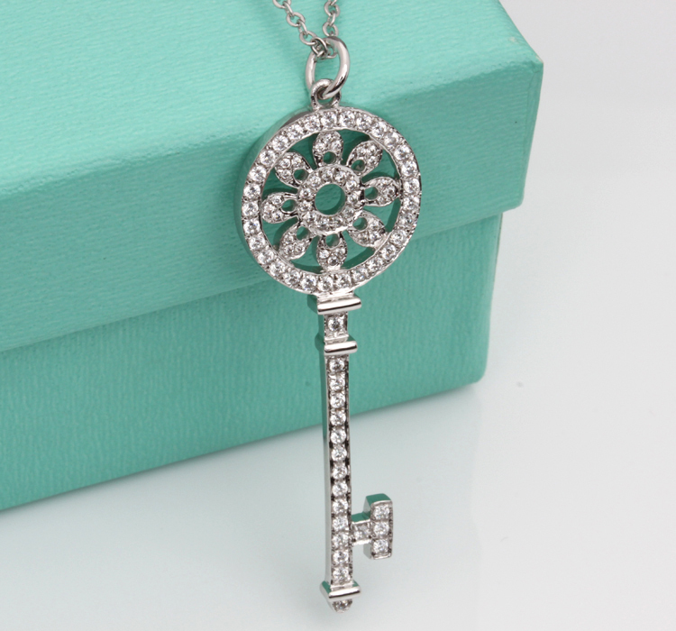 Classic key pendant t brand micro synthetic diamonds pendant classic key pendant t brand micro synthetic diamonds pendant sterling silver pendant necklace white gold color jewelry for her in pendants from jewelry mozeypictures Image collections