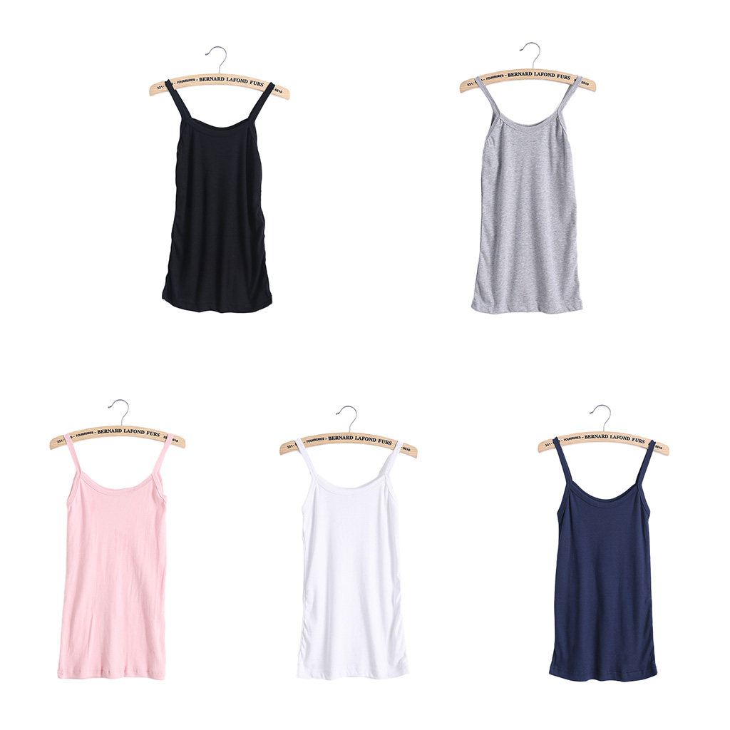 Women Stretchy Camisole Spaghetti Strap Long Tank Top Slip Mini Dress 4Color SIZE XXL is available Now-W7 10