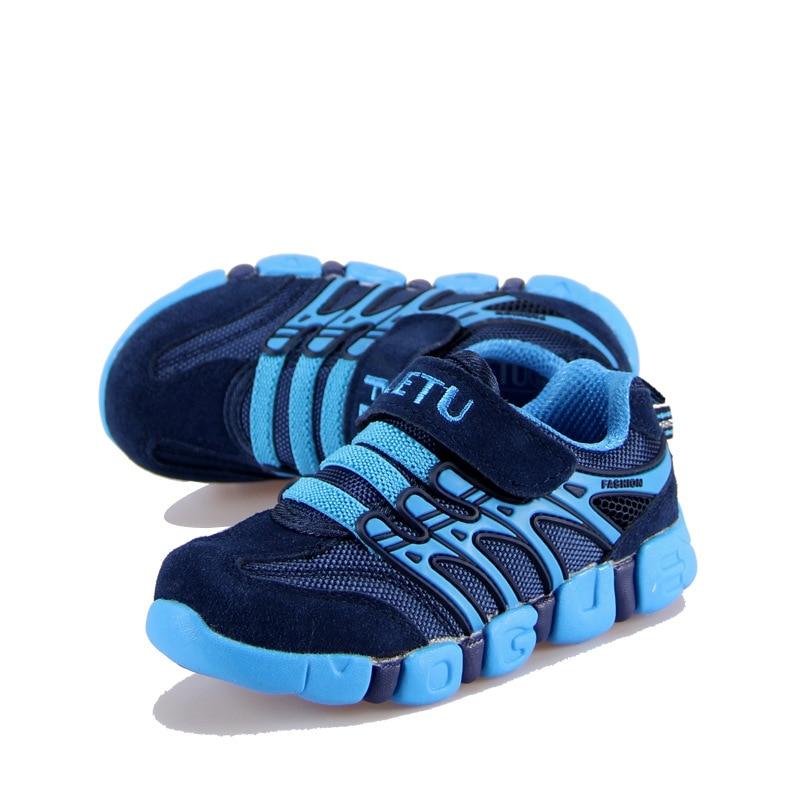 جلد طبيعي أطفال أحذية 2017 ربيع الخريف أزياء الأطفال عارضة أحذية الفتيات الفتيان أحذية رياضية الراحة في الرياضة