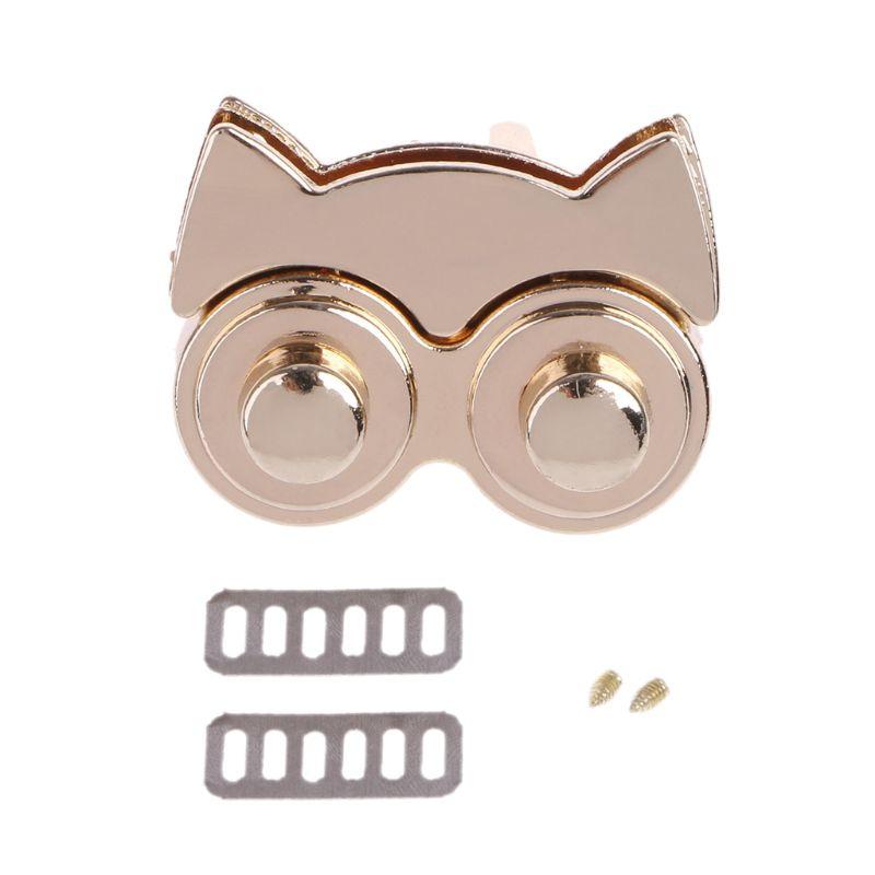 Bag Lock Cute Metal Owl Clasp Turn Twist Lock For DIY Handbag Craft Bag Purse Accessories