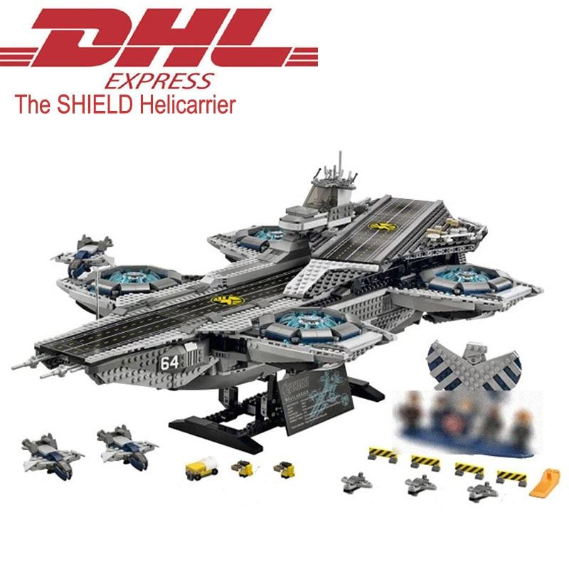 Lepin 07043 Super Heros Figure The SHIELD Helicarrier Set Model Building Kits Blocks Bricks Toys Gift Compatible Legoing 76042