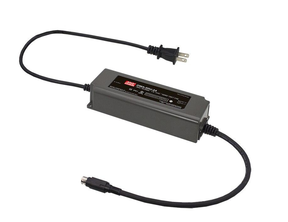 цена на [PowerNex] MEAN WELL original OWA-90U-54-P1M 54V 1.67A meanwell OWA-90U 54V 90.18W Single Output Moistureproof Adaptor USA Type