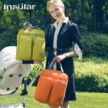 Insular Мода мумия Материнство подгузник сумка бренд большой емкости Детская сумка рюкзак для путешествий Desinger уход сумка для ухода за ребенком 8038