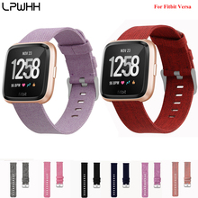 LPWHH Nylon Strap Watch For Fitbit Versa Pink Buckle Band Wrist Casual Straps Watches Colorful Orange Rose Black Blue