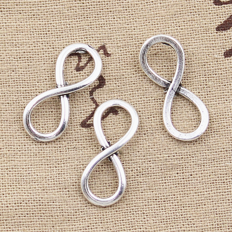 6pcs Words Charms Let Go Tag Tibetan Silver Alloy Beads Pendant DIY 12*29mm