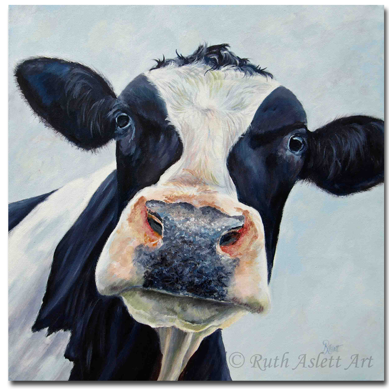 Canvas cow painting pictures living room modern oil for Decoration maison aliexpress