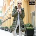 2016 verde para baixo mulheres jaqueta capuz longo cultivar a moralidade jaqueta de cor 5 plus size roupas de algodão Casaco de inverno calor