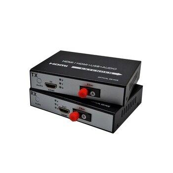 Alta calidad 1080 p HDMI Audio y vídeo transceptor de fibra óptica y transmisor FC 20 km