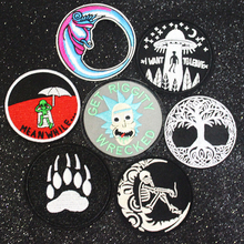 Punk Patch on Clothes DIY Embroidered Patches for Clothes Stickers Iron On Patches For Clothing Skull Patch Applique Stripe F hot sale mixed 14pcs full set for bandidos mc embroidered patch iron on jacket leather vest rider punk full back size patch g046