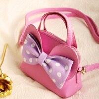 PU leather bow princess children coin purse women handbag kids mini wallet phone pouch money bag carteira feminina for girls