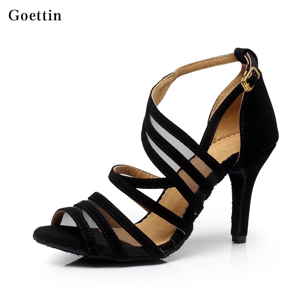 Frauen Latin Dance Schuhe vor Ort Gesellschaftstanz Schuhe Salsa Party Square Schuhe Plus Größe