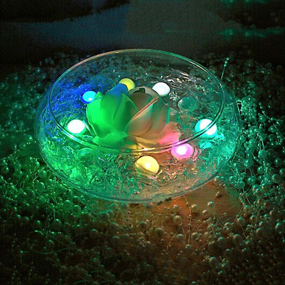 12 Teile/los Rgb Unterwasser Lampe Pp Wasserdicht Schwimm Ball Led Licht Rgb Aquarium Licht Unterwasser Dekoration Licht