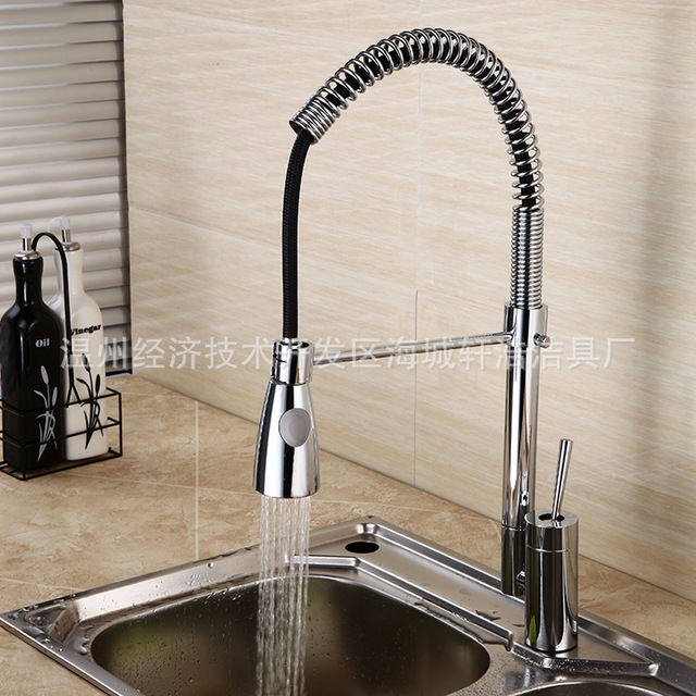 kitchen faucet single type spring water tap faucets with sprayer ...