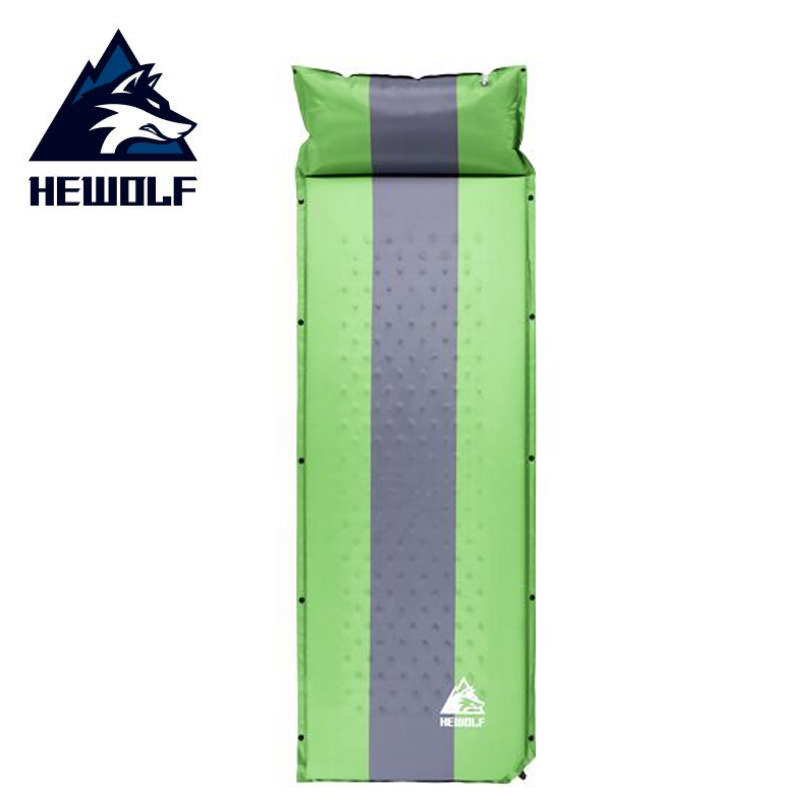 Hewolf outdoor air mattress camping bed Folding inflatable cushion sleeping pad tent travel mat self inflating camping mattress