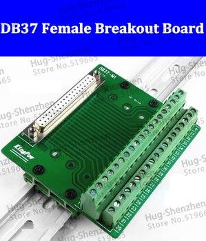 DB37 D-Sub módulo de interfaz de montaje en carril DIN, DB37 terminal conector hembra