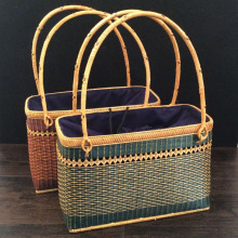 2017 Handmade Rattan woven handbag Vintage Retro Knitted Messenger Bag Lady Handbag shopping Tote natural baskets storage