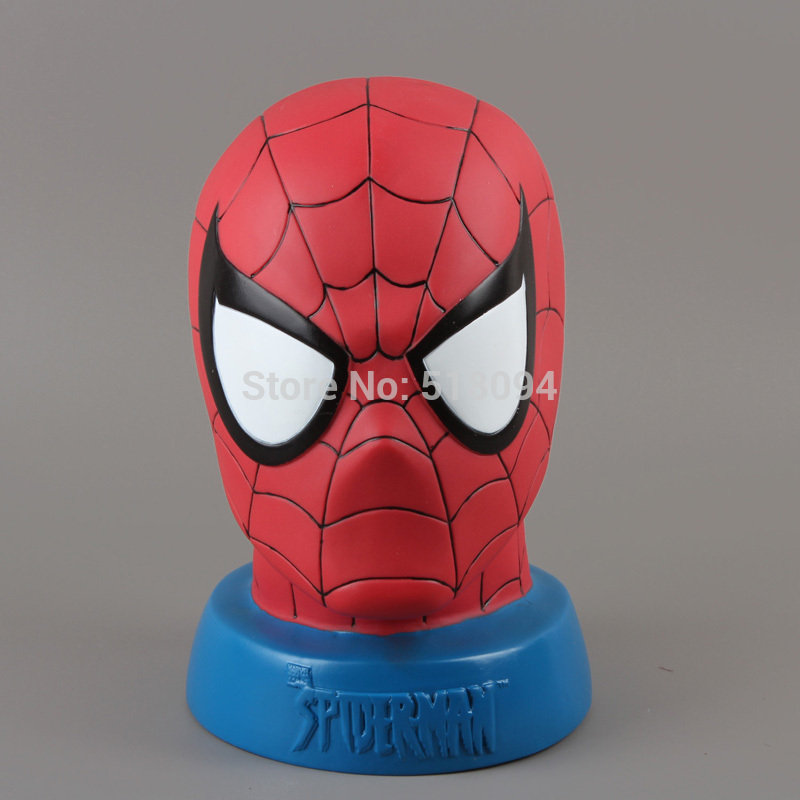 Marvel Spiderman Spider-man PVC Action Figure Collectible Model Toy Piggy Bank 24CM Free Shipping HRFG225 kung fu panda 3 po piggy bank pvc action figure collectible model toy kids gift 18cm