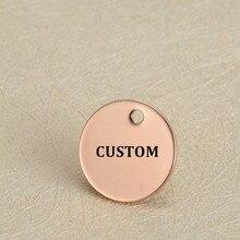 Шармы MYLONGINGCHARM 50 шт./лот с надписью на заказ, шармы из нержавеющей стали 12 мм, четыре цвета, круглые шармы, гравировочные ожерелья, шармы