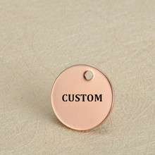 MYLONGINGCHARM 50pcs/lot Custom your Logo Words Stainless Steel Charms 12mm Four Colors Round Charms Engravable Necklace Charms