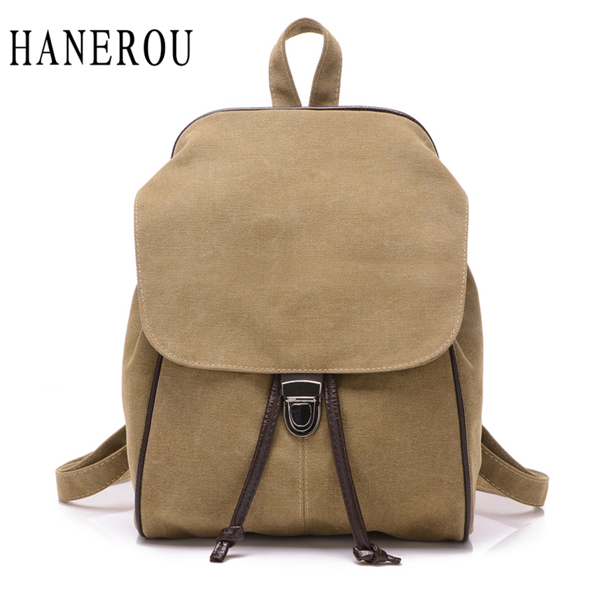 ФОТО 2017 Fashion Lock Backpack Women Hot Canvas School Bags For Teenagers Preppy Style Travel Bag New Spring Sac A Dos Bolsos Mujer