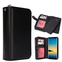 LANCASE For Samsung Galaxy Note 8 Case Leather PU Detachable Zipper Flip Case For Samsung Note