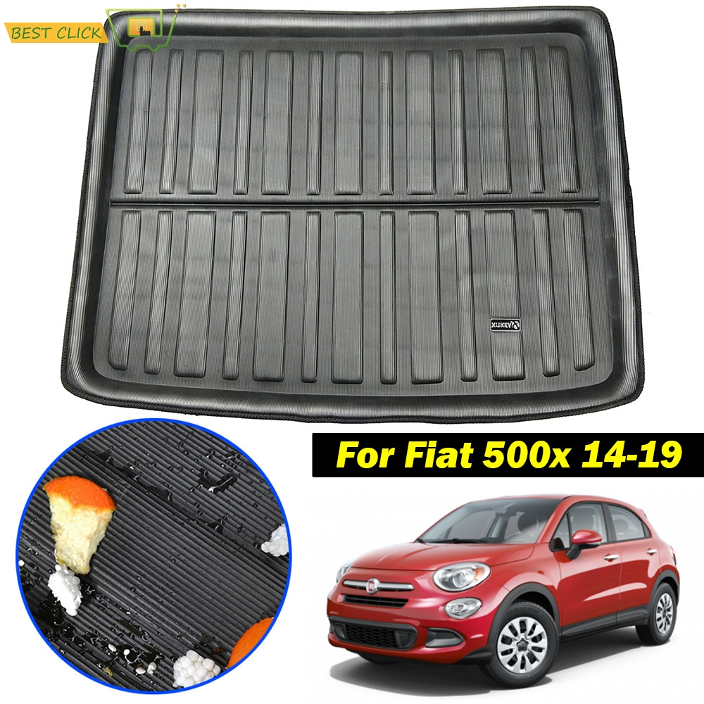 XUKEY For 500X 2014 2015 2016 2017 2018 2019 Tailored Boot Liner Cargo Tray Rear Trunk Liner Floor Mat Sheet Carpet Luggage Tray Waterproof