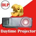 Nuevo Brillo 7000 Lúmenes Bombilla Reemplazable Full HD LED de cine en casa proyector 3D DLP Multimedia video Proyector Del partido
