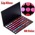 2017 New Arrival Professional Beauty 66 Color Lip Gloss Lipstick Cosmetic Makeup Palette for Women