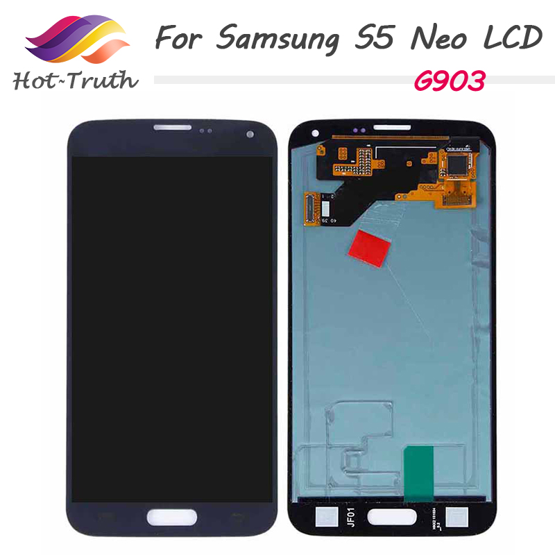 100% Original <font><b>Super</b></font> <font><b>Amoled</b></font> For <font><b>Samsung</b></font> Galaxy <font><b>S5</b></font> Neo G903 G903F G903W LCD <font><b>Display</b></font> Touch Screen Digitizer Assembly Replacement image