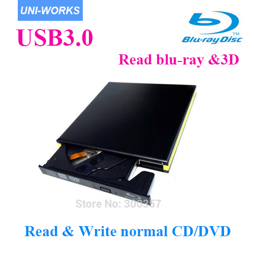 USB3.0 Bluray drive External bluray combo read blu-ray disc 3D and write normal CD DVD aluminium support windows10 and Mac accept accept blind rage limited edition cd blu ray dvd 2 lp