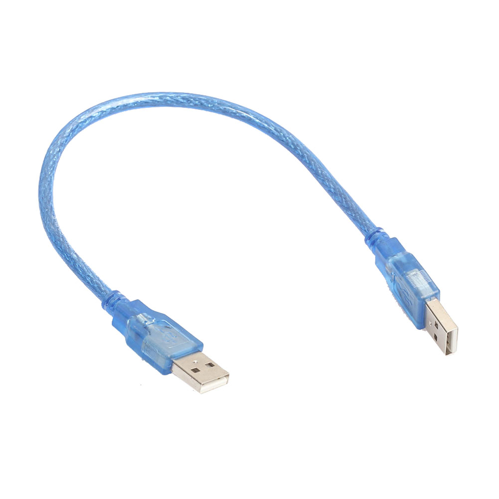 30 cm 1 Ft USB 2.0 Type A / A Male to Male Cable Extension Cable Blue